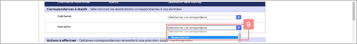 Ne pas importer une colonne du fichier de produits - Centre d'aide RiaShop et Yuto