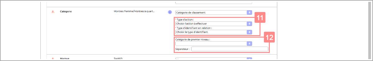 Définir la construction du classement dans le fichier d'import produit - Centre d'aide RiaShop et Yuto