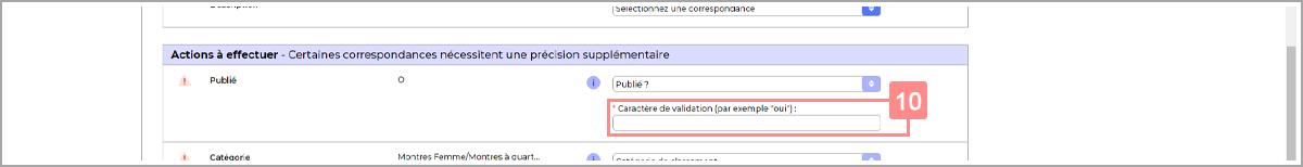 Saisir le caractère de validation pour cocher une case dans RIaShop