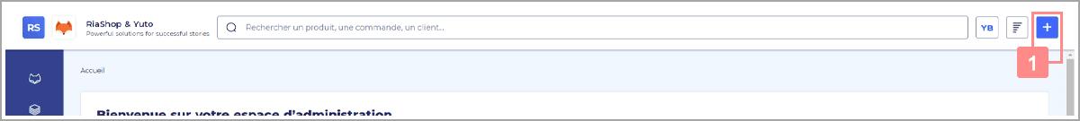 Ouvrir la pop-up d'accès rapide pour ajouter des comptes clients dans RiaShop