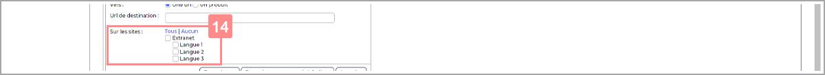 Choisir les sites où afficher la bannière - Centre d'aide RiaShop et Yuto