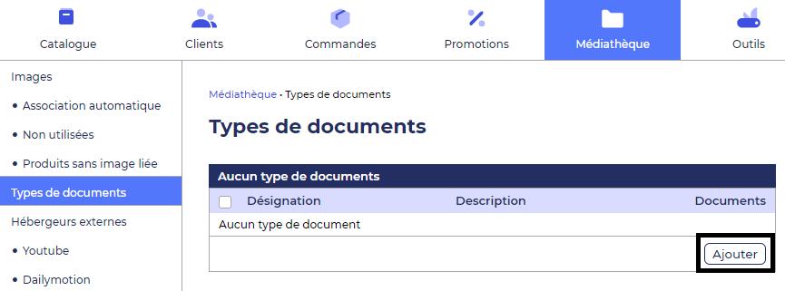 Ajout de documents dans le crm