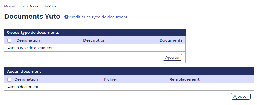 Gestion des documents crm Yuto