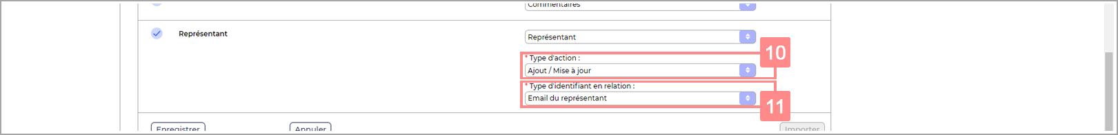 Configuration représentants dans l'import de RiaShop
